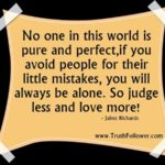 No One Is Perfect In This World Quotes Pinterest