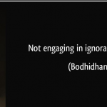 Not Engaging In Ignorance Is Wisdom