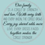 Our Family Is A Circle Of Strength And Love Quote