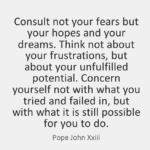 Pope John XXIII Quotes About Dreams