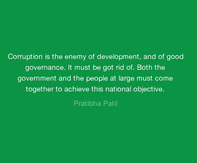 Pratibha Patil Quotes About Government