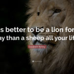 Quote With Lion Pic Pinterest