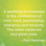 Quotes About Anniversary by Paul Sweeney