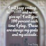 Quotes About Attitude by Yani Tseng