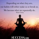 Quotes About Habits For Success Facebook