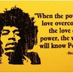 Quotes About Peace by Jimi Hendrix