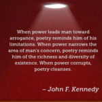 Quotes About Poetry by John F. Kennedy