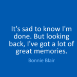 Quotes About Sad by Bonnie Blair