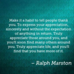 Quotes About Thankful by Ralph Marston