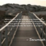 Quotes About Thankful by Tecumseh