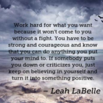 Quotes About Work by Leah LaBelle