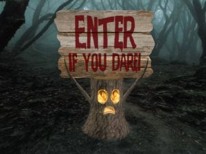 scary halloween sayings for signs
