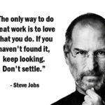Steve Jobs Quotes about The Only Way to Do Great Work