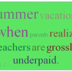 Summer Vacation Funny Quotes