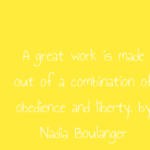 Work Quotes by Nadia Boulanger